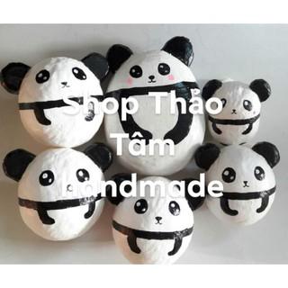 (HÀNG VỀ NHIỀU) Squishy handmade panda trứng