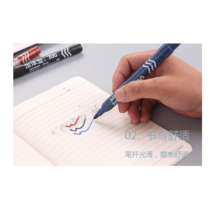 Bút lông dầu 3 màu đen, đỏ, xanh
