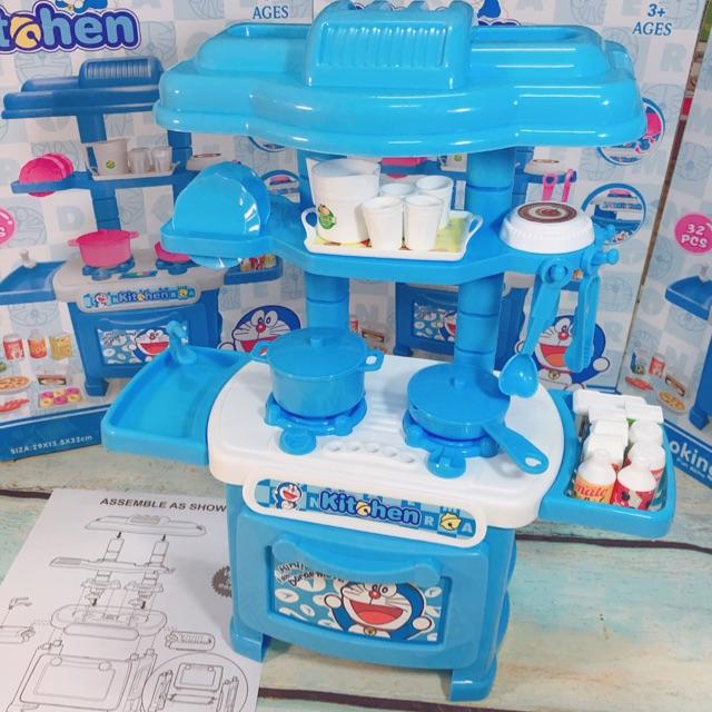 Bộ đồ chơi bếp mini hình Doremon 832-4 ( ảnh&clip shop quay)