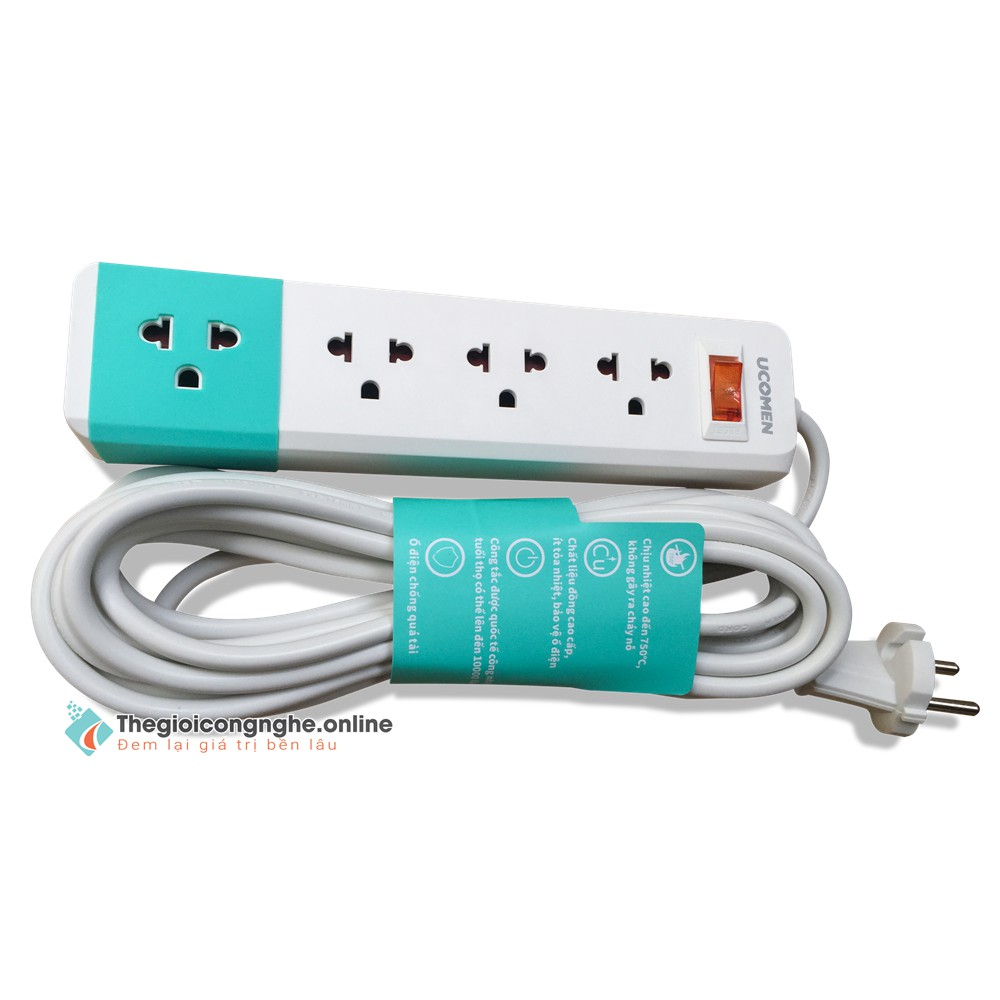 Giá bán ổ cắm điện đa năng / Freeship từ 150k/ Ổ cắm điện Sopoka 1200W 5S5  (dây 4,5m) / 6S3 (dây 2,5m) / 6S5 (dây 4,5m)