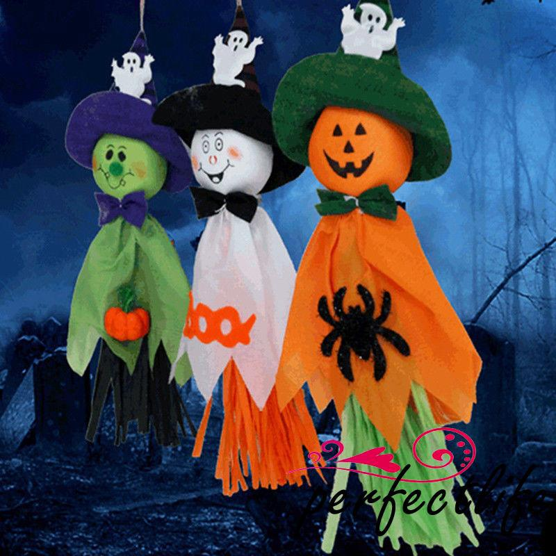 ★HZL-Funny 3Pc Cute Ghost Halloween Decoration Festival Party Supplies Funny