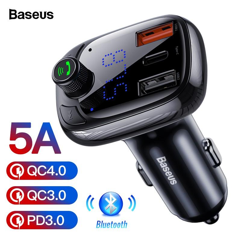 Tẩu Sạc Baseus Bluetooth 5.0 Tốc Độ Nhanh 3.0 Cho Xe Hơi
