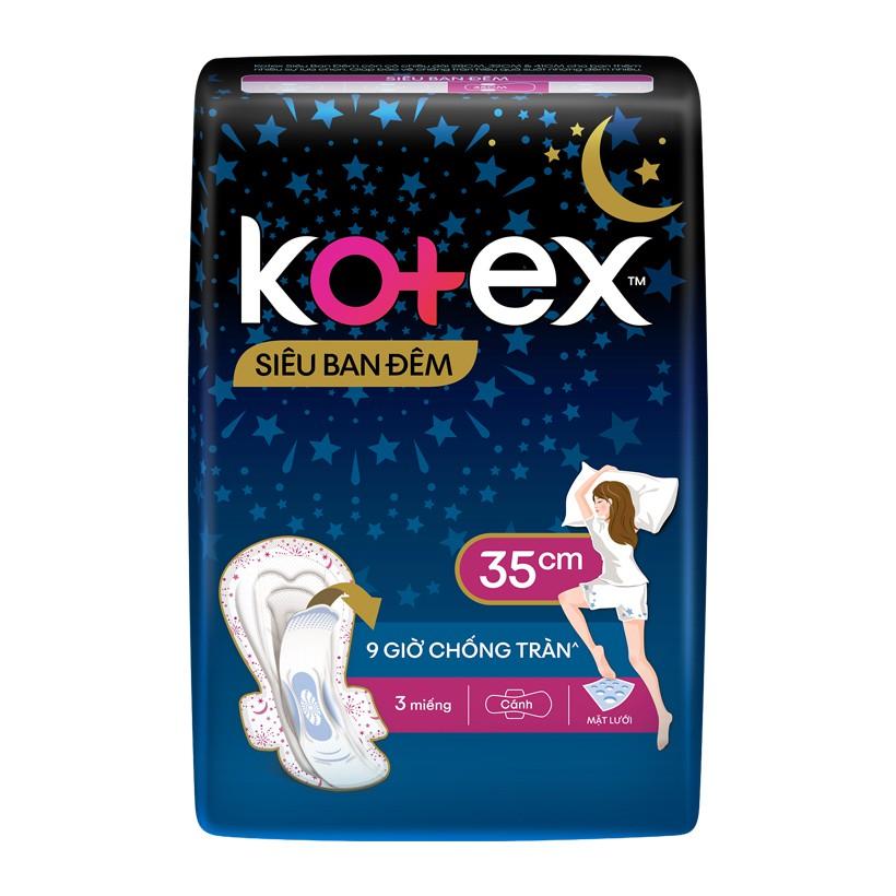 Băng Vệ Sinh Sieu Ban đem Kotex Co Canh Goi 3 Miếng X 35cm Shopee Việt Nam
