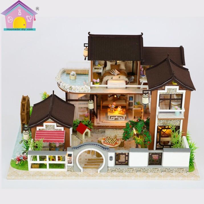 Mô hình nhà gỗ DIY – nhà trong Phố cổ