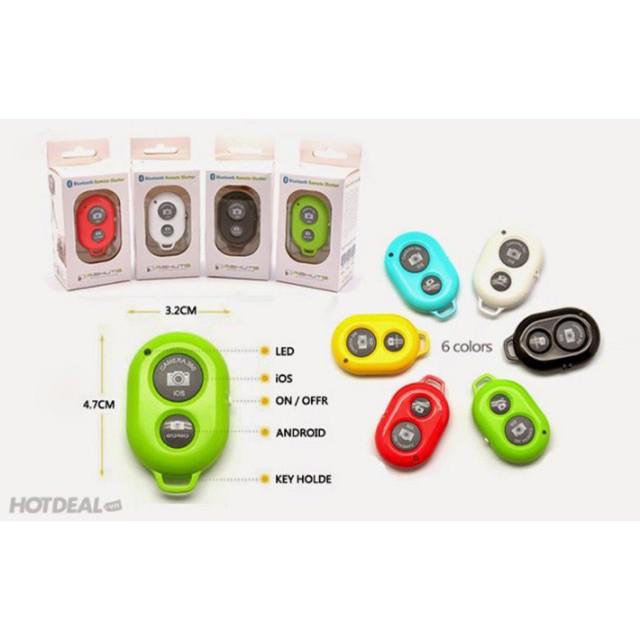 Nút Bấm Bluetooth Điều Khiển Từ Xa Chụp Ảnh Tự Động Cho Smartphone, Iphone, Ipad (Tặng kèm 1 pin CR2032)