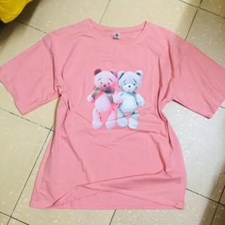 Áo thun áo phông nữ Freesize oversize họa tiết đôi gấu xinh