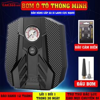 Máy bơm lốp ô tô xe hơi thông minh CAR365 (BẢO HÀNH 12 tháng - 1 đổi 1 - 30 ngày), Đồng hồ cơ hiển thị áp suất lốp thumbnail