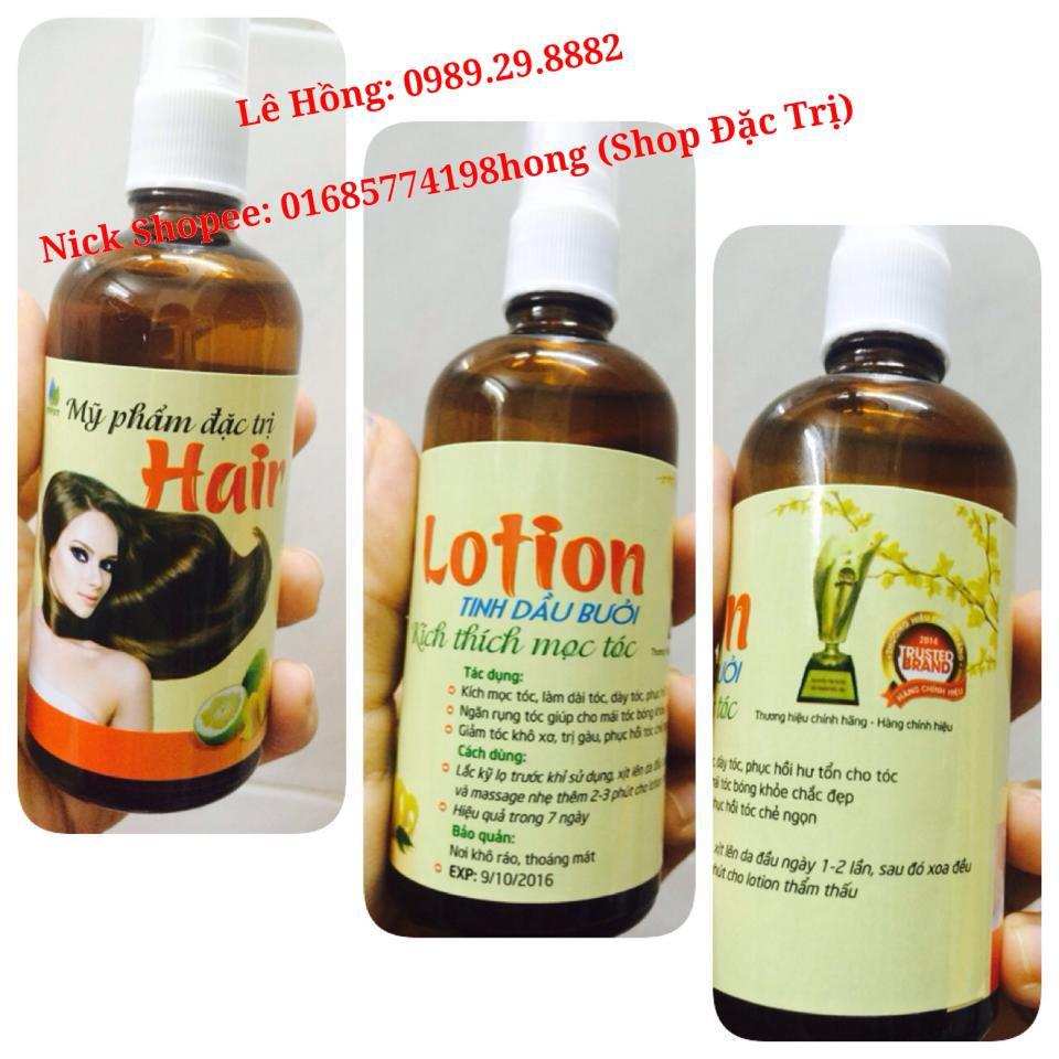 TINH DẦU BƯỞI KÍCH MỌC TÓC dày và dài, TRỊ RỤNG TÓC, chống hói đầu, Giảm khô xơ, Hair Lotion Dưỡng mềm mượt, trị g