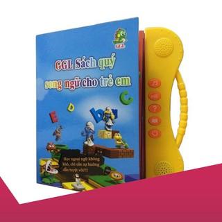 [Giảm 9k cho đơn từ 99k]sách nói điện tử song ngữ cho bé .