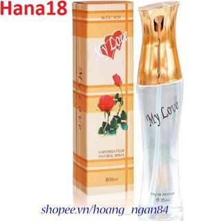 Nước Hoa Nữ 35ml My Love Hộp Màu Sọc Vàng Nhạt Chính Hãng. CHUANHOT thumbnail