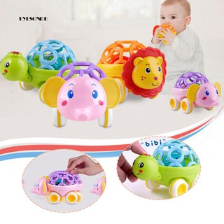 ♕Cartoon Pig Turtle Lion Animal Model Rattle Toy Hand Jingle Kids Children Gift