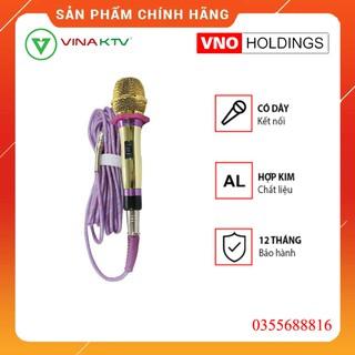 Mic hát karaoke có dây Vina KTV VN999 CHÍNH HÃNG - Micro có dây VinaKTV 999 cao cấp