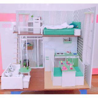Mô hình nhà búp bê tông xanh cá tính