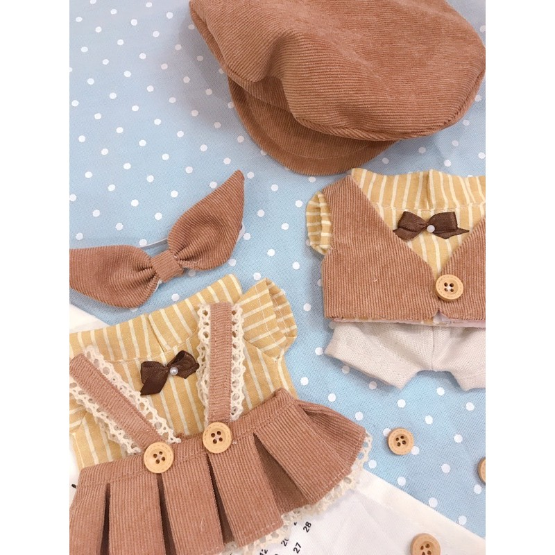 Outfit doll 20cm - 15cm - IDV - Set nâu