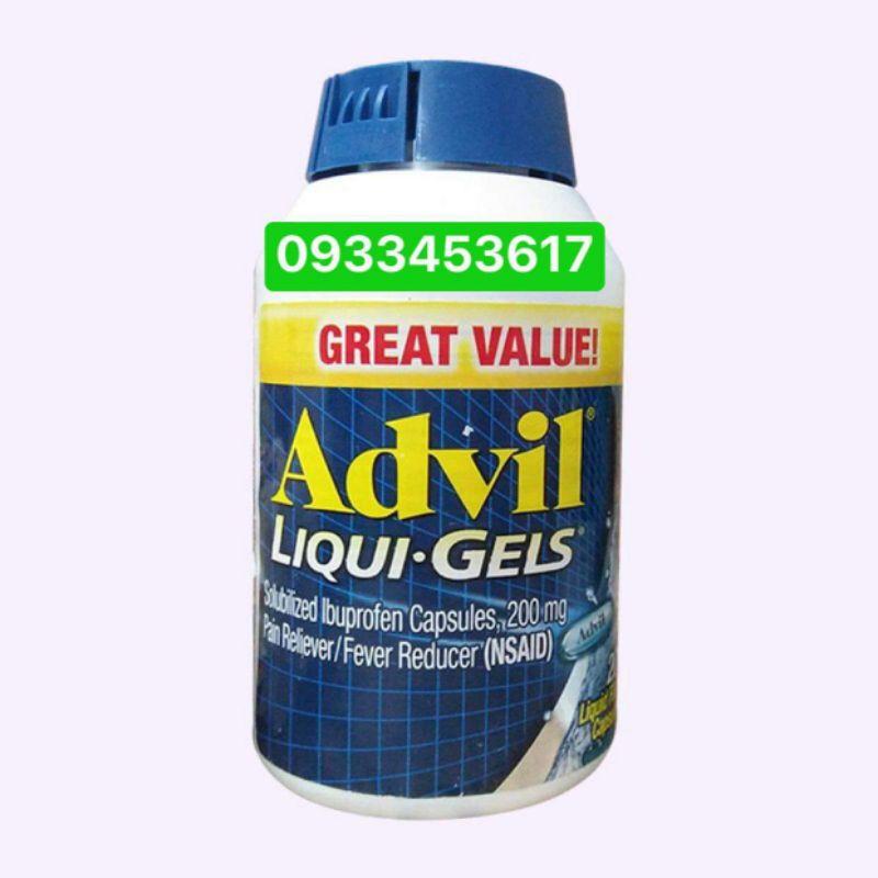tinh chất advil_liqui gels Mỹ chính_hãng