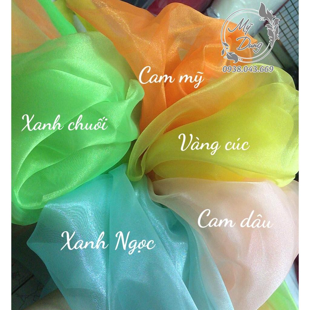Vải voan cát kiếng khổ 1m5 - (Chuyên dùng may váy thời trang, Scrunchies, Hoa vải,..)