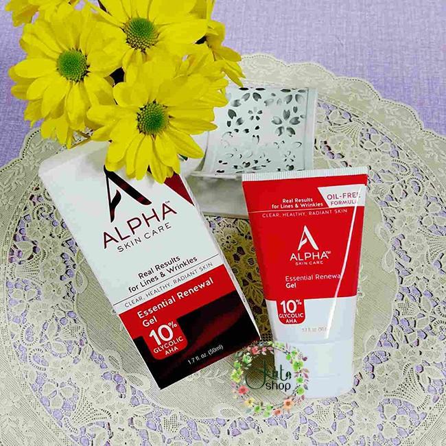 Gel dưỡng Alpha Skin Care Renewal Gel 10% Glycolic AHA