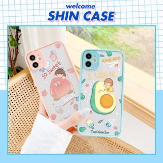 Ốp lưng iphone Yuan Fruit nhám viền nổi 5 5s 6 6plus 6s 6splus 7 7plus 8 8plus x xr xs 11 12 pro max plus promax thumbnail