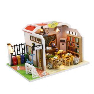 Kèm Mica và keo dán – Mô hình nhà gỗ búp bê Dollhouse DIY – M907 Deskmate