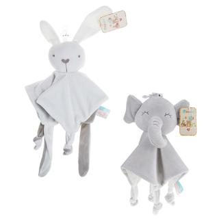 Baby Appease Towel Rattle Handkerchief Appease Doll 0-2 Years Old Appease Towel Short Plush Cute Animal