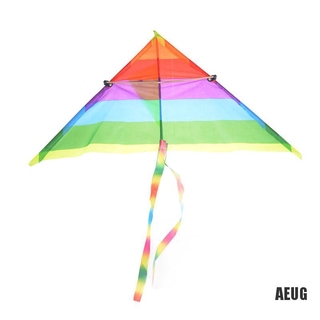 [Aiu] 1PC Rainbow Kite Outdoor Baby Toys For Kids Kites without Control Bar and Line