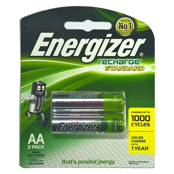 Pin sạc AA Energizer 1300 mAh vỉ 2 viên 2A