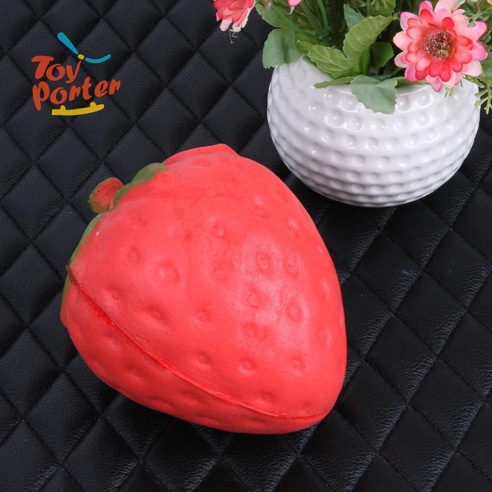 💞Strawberry Slow Rising 12CM Cute Straps Pendants Bread Kids Toys💞