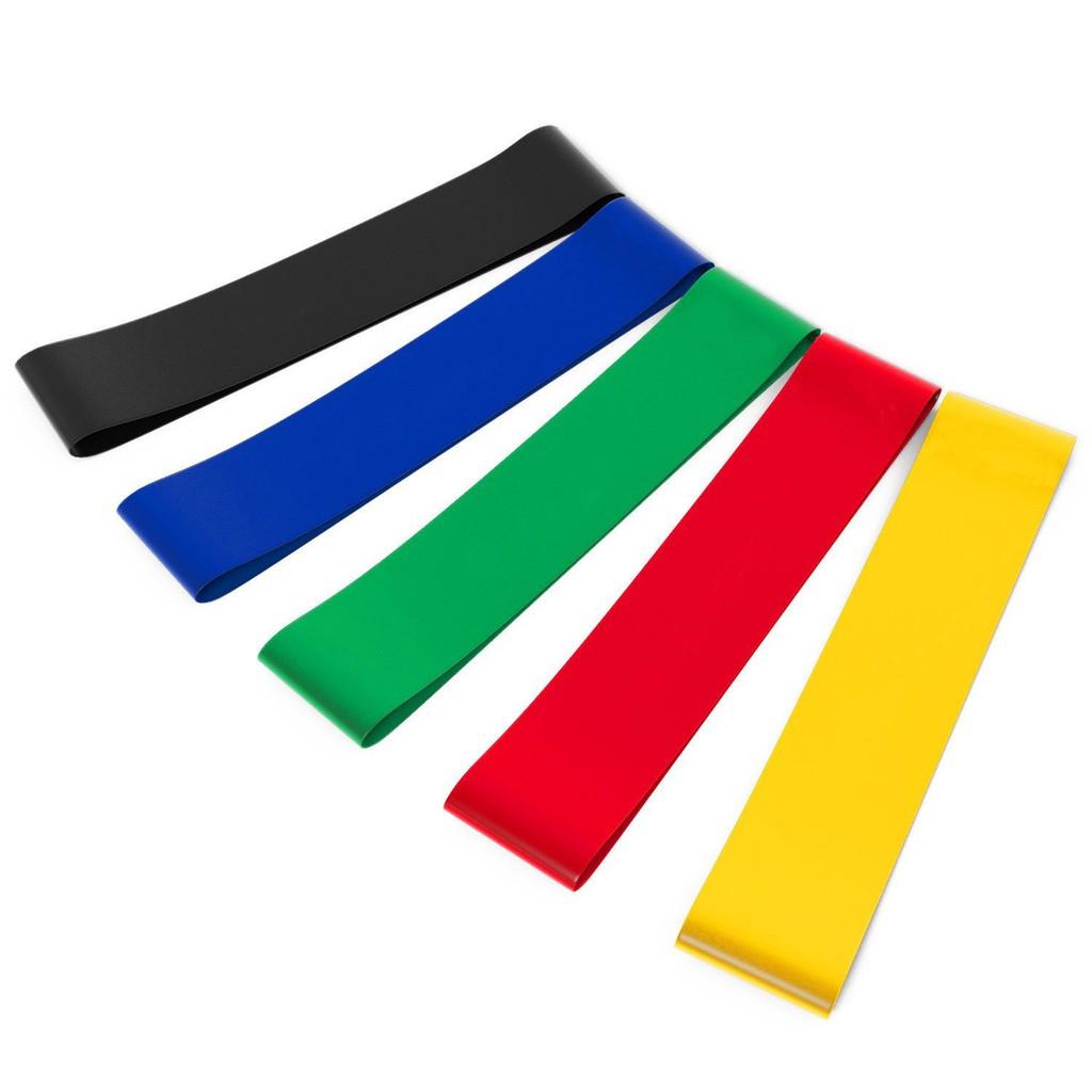 Bộ 5 dây mini band, dây cao su miniband tập chân mông, phụ kiện tập gym