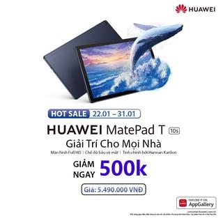"""Máy Tính Bảng_HUAWEI MatePad T 10s (3GB/64GB) Camera 5 MP/2 MP Loa Harman Kardon - Khuyến mãi lớn từ 22.01 đến 31.01 giá chỉ còn <strong class=""""price"""">499.000.000.000đ</strong>"""