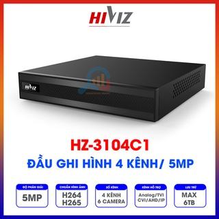 Đầu ghi hình Hiviz - HZ-3104C1 4 kênh 5MP, hỗ trợ camera Analog TVI CVI AHD IP - Chính hãng - Bảo hành 24 tháng thumbnail