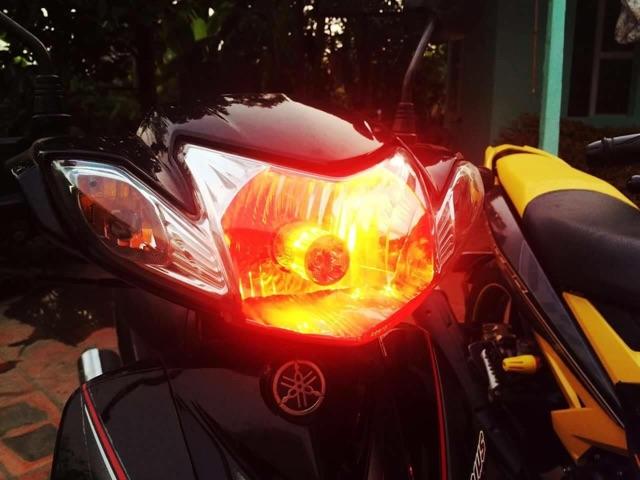 đèn Pha Xe Máy Chân H4 Viển 7 Màu đẹp Giảm Chỉ Còn 75000 đ