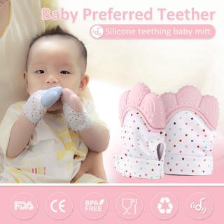 Infant Baby Teether Molar Gloves Eat Fingers Silicone Teething Mittens Chewable 1PCS