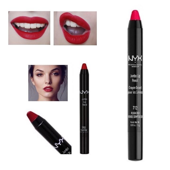 Son lì dạng bút NYX Jumbo Lip Pencil - 712 Plush Red - Đỏ