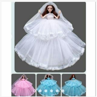Búp bê cô dâu váy 2 tầng bồng bềnh