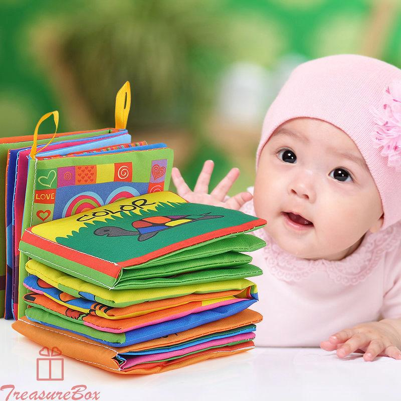 Intelligence Kid Baby Cartoon Cognize Education Book Cloth Development Child