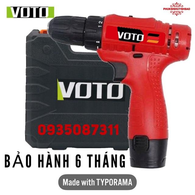 Máy Khoan Pin 12V VOTO,Hộp Nhựa,Mã VT100,Bảo Hành 6 Tháng