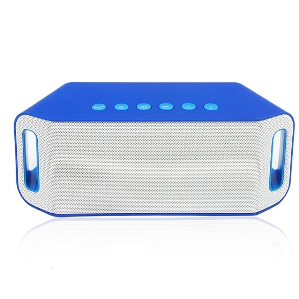 Loa Bluetooth Suntek S204 Cao Cấp (Xanh Pha Trắng )