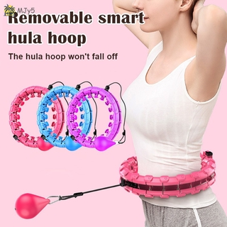 MJy5 Smart Hulas Hoops for Adults and Kids Exercising 2 in 1 Abdomen Fitness Lose Weight Auto-Spin Ball Hulas