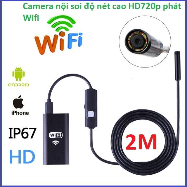 Camera Nội soi không dây thế hệ mới phát Wifi độ nét chuẩn HD720p dài 2m
