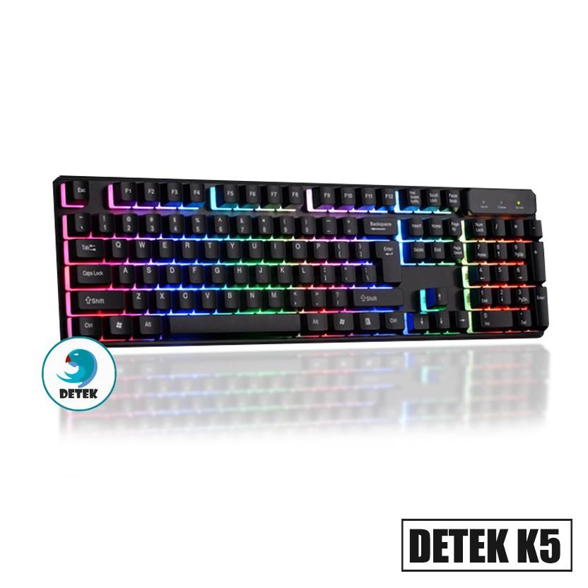 Bàn phím game thủ giả cơ Detek K5 LED màu đen - 3084414 , 702263892 , 322_702263892 , 199000 , Ban-phim-game-thu-gia-co-Detek-K5-LED-mau-den-322_702263892 , shopee.vn , Bàn phím game thủ giả cơ Detek K5 LED màu đen