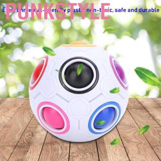 Punkstyle Nitrip Plastic Children Magic Colorful Rainbow Ball Spherical Puzzle Toy Educational game
