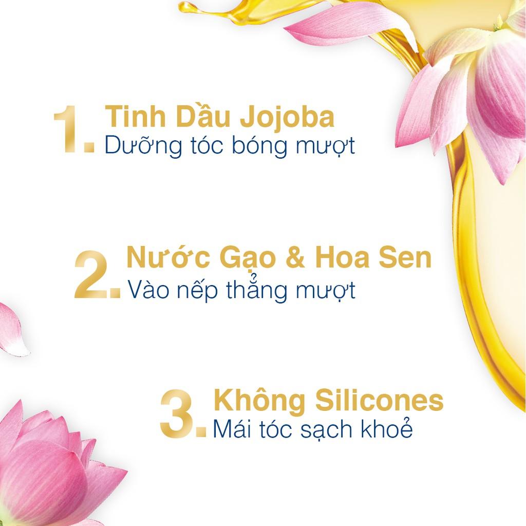 Dầu gội Dove giúp tóc bóng mượt chiết xuất Hoa sen và Dầu Jojoba Botanical  Selection 500gr | Shopee Việt Nam