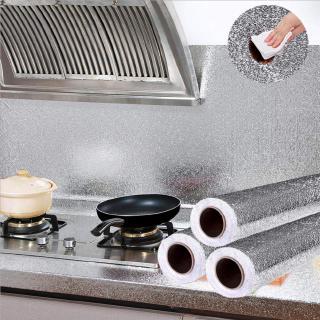 Giấy dán lá nhôm dán tường nhà bếp chống thấm dầu mỡ