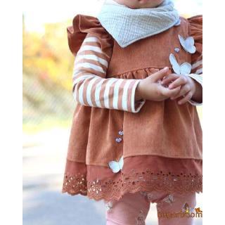 Sgm★Best Butterfly Long Sleeve T-shirt Tunic Top Casual Mini Dress Baby Girls