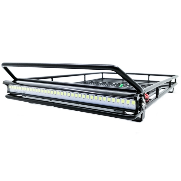 Metal RC Luggage Rack with LED Light for 1/10 RC Tractors Axial Scx10 Traxxas TRX4 D90 D110 Update