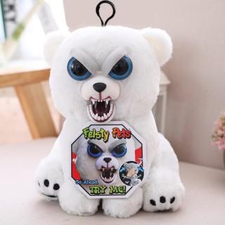 Feisty Pets 10cm Stuffed Plush Toys Keyring Change Face Pet Stuffed Animal Doll