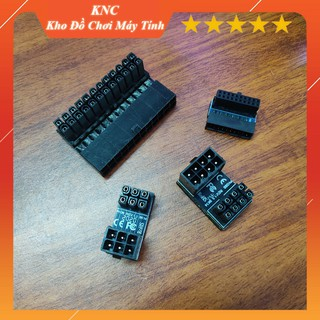 [Mã ELFLASH5 giảm 20K đơn 50K] Combo 4 phụ kiện đảo góc cắm dây nguồn cho Mainboard, USB 3.0, VGA