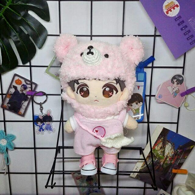 [Outfit] Mũ gấu xù cho Doll 20cm và 15cm