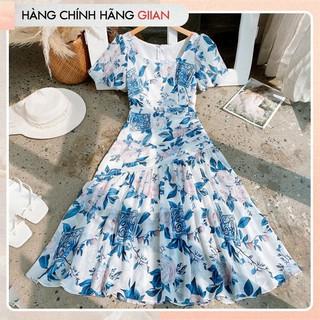 Giian - Váy hoa dáng dài cổ vuông, đầm voan xòe phong cách nữ tính - Roserine Dress- thiết kế chính hãng - V2223 thumbnail