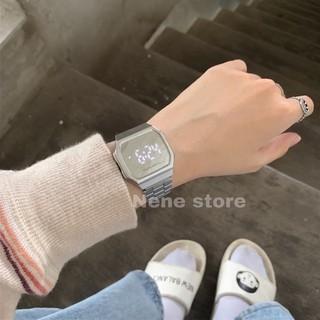 Đồng hồ nam nữ TOUCH WATCH tráng gương dây sắt kiểu dáng sang trọng